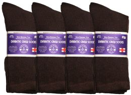 36 of Yacht & Smith Women's Cotton Diabetic NoN-Binding Crew Socks - Size 9-11 Brown