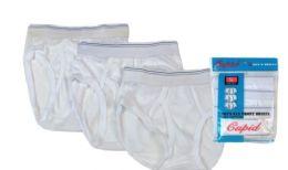 72 of Boy's Cotton White Briefs