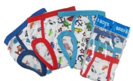 72 of Boy's Cotton Briefs With Print