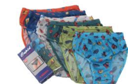72 of Boy's Nylon Briefs With Pattern