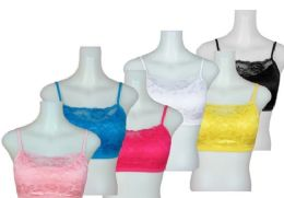24 of Ladies' Seamless Bra With Padding And Lace