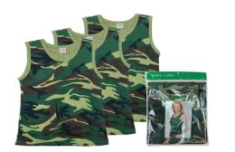 48 of Ladies' Camouflage A-Shirt