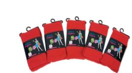36 of Girls Acrylic Tights In Red