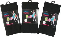 36 of Girls Acrylic Tights In Black