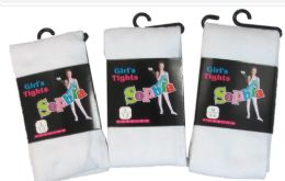 36 of Girls Acrylic Tights In White