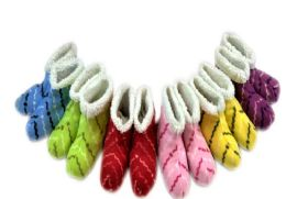36 of Ladies' Slipper Boots With Stripe Design One Size
