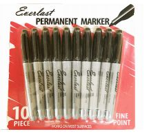 120 of Everlast Permanent Marker 10 Pack Black