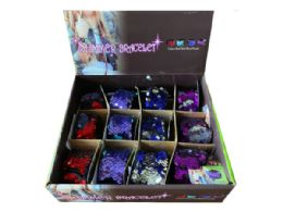 144 of Shimmer Bracelets In Assorted Colors In Countertop Display