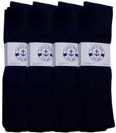 24 of Yacht & Smith Men's Navy Cotton Terry Tube Socks,30 Inch Long Athletic Tube Socks, Size 10-13