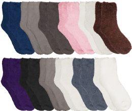 12 of Yacht & Smith Women Fuzzy Socks Crew Socks, Warm Butter Soft, Neutral Colors (size 9-11)