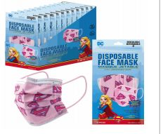 1200 of Disposable Children Mask 10 Pack Supergirl