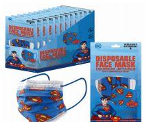 1200 of Disposable Children Mask 10 Pack Superman