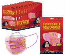 1200 of Disposable Children Mask 10 Pack Wonder Woman