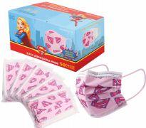 1200 of Disposable Children Mask 50 Pack Supergirl