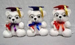 60 of Graduation Color Cap Bear