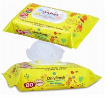 48 of Only Fresh Wipes 80 Count With Lid Yellow