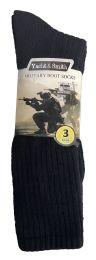 24 of Yacht & Smith Men's Army Socks, Military Grade Socks Size 10-13 Solid Black