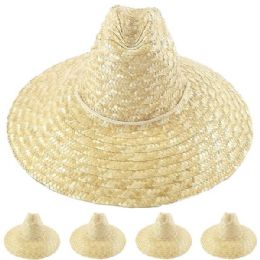 24 of Natural Palm Straw Man Summer Hat