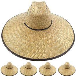 24 of Large Brim Bamboo Straw Pescador Man Sun Hat