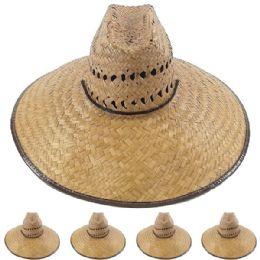 24 of Wide Brim Bamboo Straw Pescador Man Sun Hat