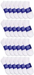 24 of Yacht & Smith Mens White Lightweight Cotton No Show Ankle Socks, Sock Size 10-13