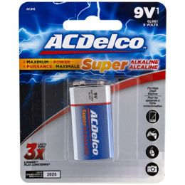 48 of Battery 9 Volt Alkaline Ac Delco Carded