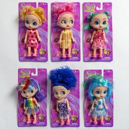 24 of Doll Pretty Dorables 5in 6asst Styles W/colorful Hair TiE-on