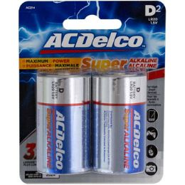 48 of Batteries D 2pk Alkaline Ac Delco Carded