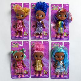 24 of Doll Pretty Dorables 5in Black 6asst Styles W/colorful Hair