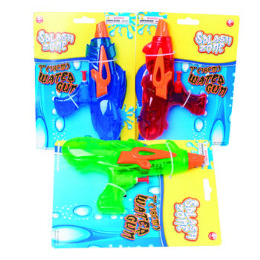 24 of Water Gun 7in Space/laser Shape Transparent Blue/green/red Color
