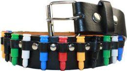 48 of Multicolor Punk Studded Belt