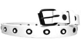 36 of Womens Plain White Skinny Belt