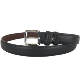 24 of Plain Black 1 Inch Width Women Belt Assorted Sizes