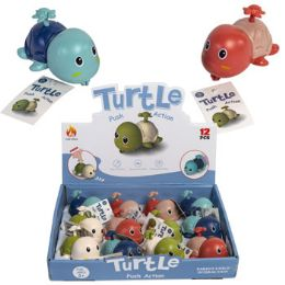 24 of Turtle Pull Back Toy 3 Asst In Pdq/ht Age 3+
