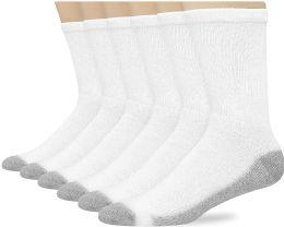 180 of Hanes Mens White Cushioned Crew Socks, Shoe Size 12-15