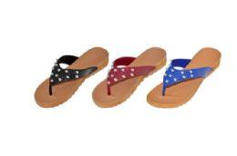 36 of Womens Assorted Color Flip Flops
