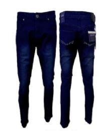 12 of Men's Fashion Stretch Denim Jeans In Dark Blue