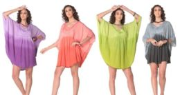 12 of Ombre Tie Dye Rayon Cape Poncho
