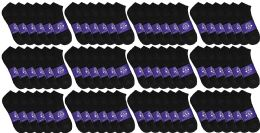 72 of Yacht & Smith Mens Cotton Black No Show Ankle Socks, Sock Size 10-13