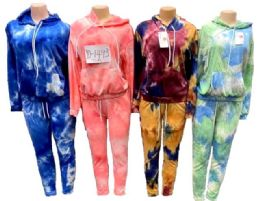 12 of Tie Dye workout Jogger Hoody And Pants Sets