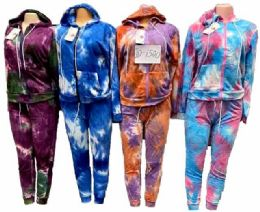 12 of Tie Dye Workout Clothes Zip Hoody Sets