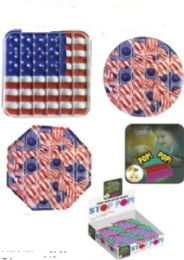 24 of Red And White USA Flag Stop Pops