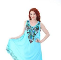 12 of Rayon Solid Heavy Multicolor Embroidery Dress
