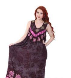 12 of Rayon Long Straight Dress Batik Dye Assorted Colors