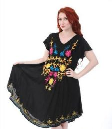 12 of Black Rayon Dress Assorted Patterns