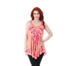 12 of Rayon Staple Heavy Embroidered Top Assorted Colors