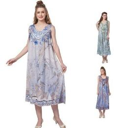 12 of Sea Dye Rayon Straight Gown Plus Size