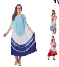 12 of Tie Dye Rayon Straight Gown Plus Size