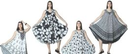12 of Black and White Collection Rayon Umbrella Dresses