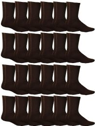 24 of Yacht & Smith Women's Sports Crew Socks, Size 9-11, Brown